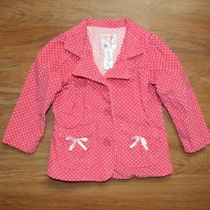 Old Navy Velvet Polka dot Button Up Jacket Blazer